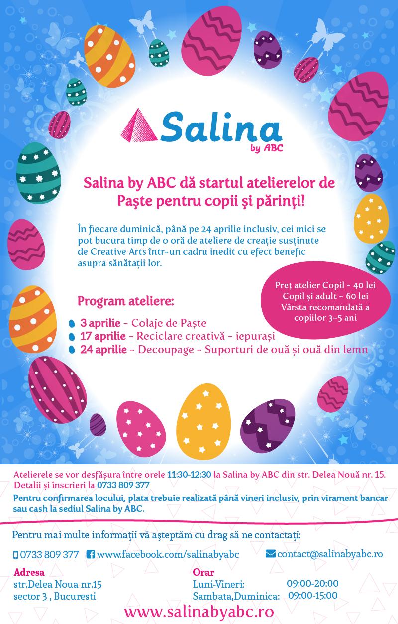 Ateliere pentru copii si parinti Paste Salina by ABC