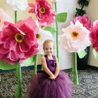 flori uriase din hartie copii
