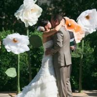 nunta flori uriase din hartie